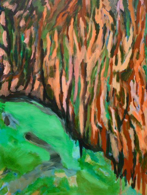Paysage,  2019, Acryl auf Leinwand, 160x120