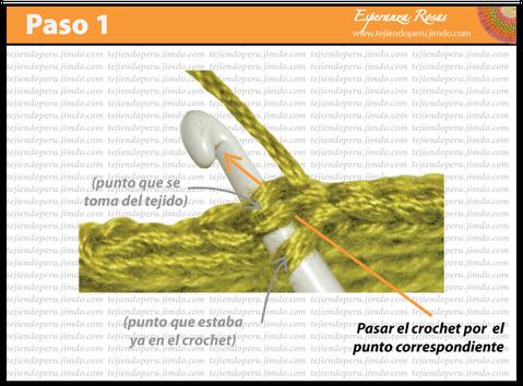 Cómo tejer un punto deslizado o raso a crochet