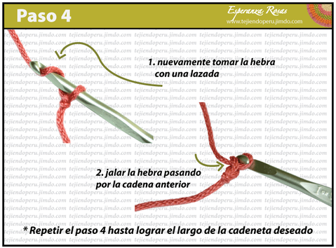 Como tejer una cadena a crochet: paso a paso