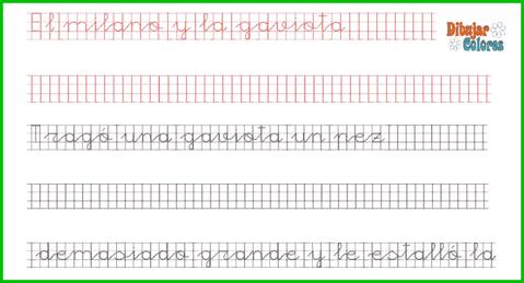 una fábula de Esopo en caligrafía