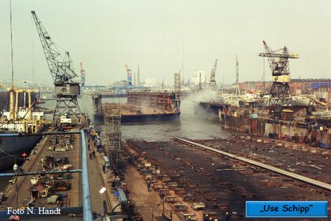 Der Werfthafen ist erreicht