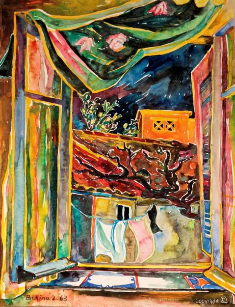 Bettina Heinen-Ayech (1937-2020):  Innenhof in Guelma, Februar 1963 -  erstes in Algerien entstandene Bild