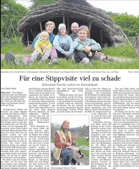 steinzeitpark, albersdorf. werner pfeifer,