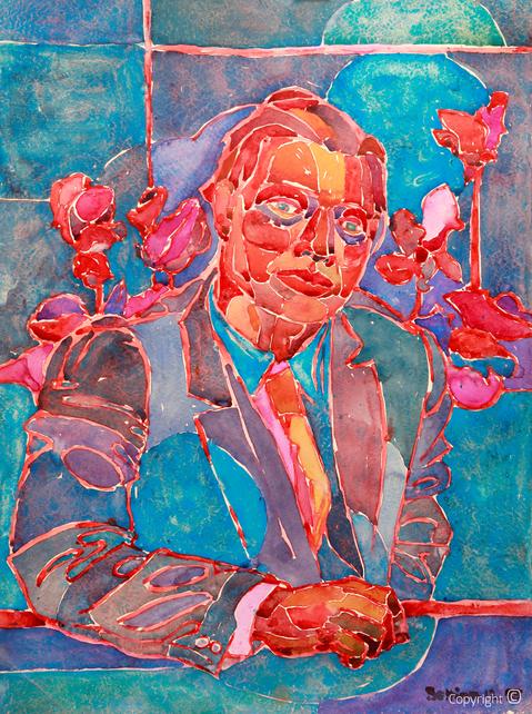Bettina Heinen-Ayech (1937-2020): Portrait von Amud Uwe Millies, 1958