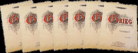 Григ — Полное собрание сочинений для фортепиано, ноты