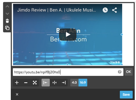 Embed a video into your Jimdo website
