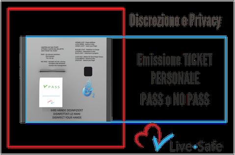 Live Safe il totem di monitoraggio digitale_emissione ticket personale