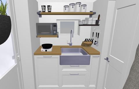 Die Küche im Mini Tiny House