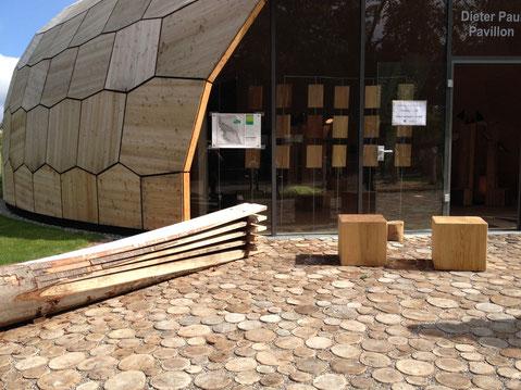 Forstpavillon Landesgartenschau - ein bionischer Leichtbau [© Foto: Dr. Gerhard Strobel]