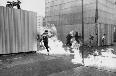 Kampe med politiet, d. 14. juni 1970