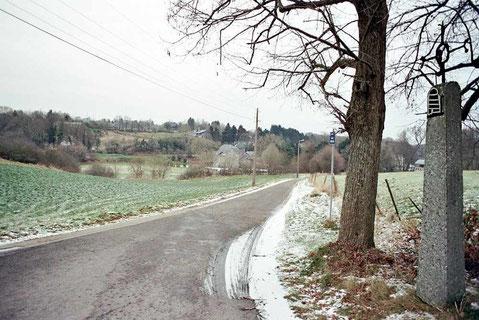La route du moulin de Lavaux février 2009