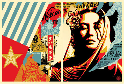 Shepard Fairey Welcome Visitor