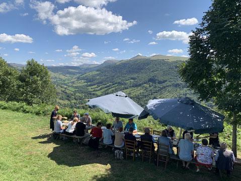 Mittagessen mit Panorama