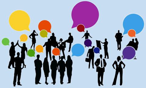 Kommunikation - Networking, um Informationen zu teilen