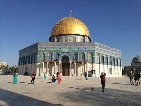 The Dome on the Rock shrine on the Temple Mount