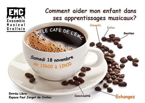 Ecole de musique - Ensemble Musical Crollois - Grésivaudan - Café - Rencontre - Aider son enfant