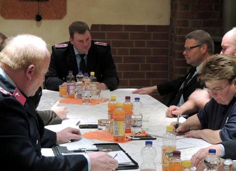 Uwe Klas, Wehrleiter von Klinze legte den Rechenschaftsbericht vor.