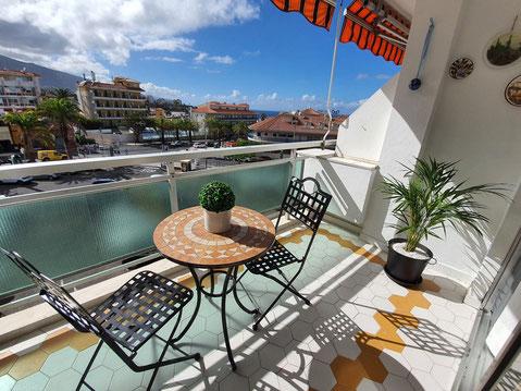 Blick von den Terrasse in die Umgebung vom Apartment.