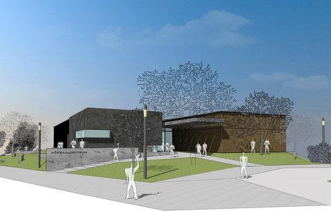 neubau hörsaalzentrum uni duisburg essen visualisierung drahtler architekten planungsgruppe dortmun