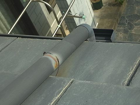 熊本市K様家の屋根塗装前。