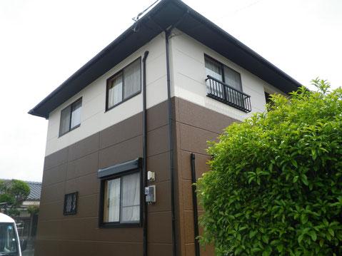 熊本市M様家の西面外壁塗装完成。AFTER
