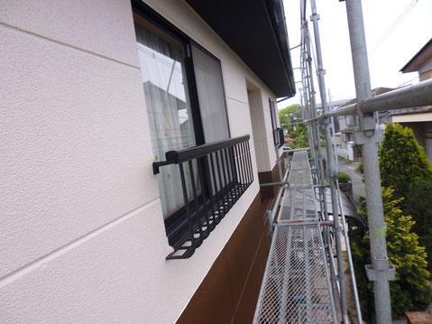 熊本市M様邸の南面外壁塗装塗装完成。おしゃれツートンカラーで塗替え