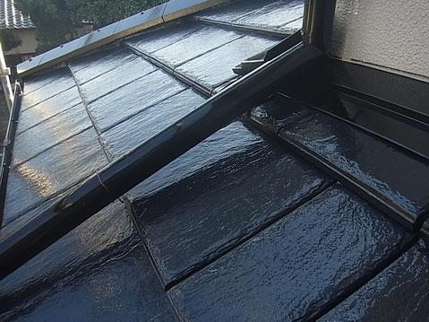 熊本市K様家の屋根塗装完成。美しい瓦に蘇りました。高耐久・防カビ防藻塗料使用。