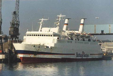 M/V Armorique (1) amarré à Plymouth.