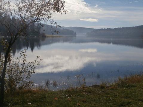 Ad Foto-Challenge auf FB: Das dort versprochene zweite Foto ist hier zu sehen. Aufnahme vom Moldau-Stausee bei Friedberg. Foto: WaPA/Voglauer