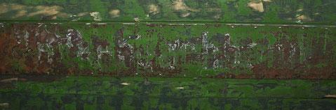 Schriftzug, Kerkerbachbahn, Wagen 19,