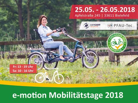 Dreirad und Elektro-Dreirad Mobilitätstage in Bielefeld