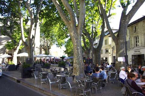 the place des Corps-saints square in Avignon