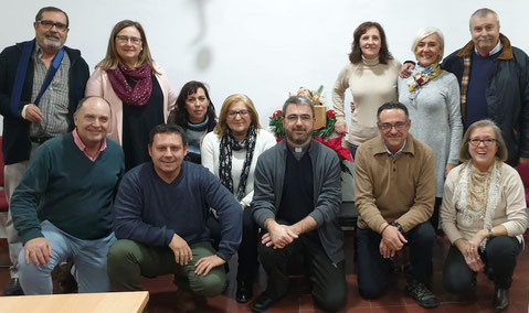 Grupo de voluntarios de Cáritas Parroquial.