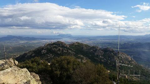 Monte Pino- Blick auf Olbia
