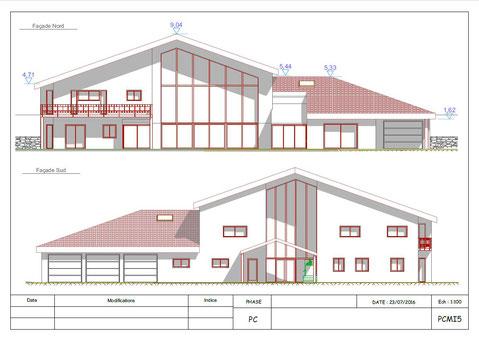 Permis de construire d claration pr alable plans for Declaration travaux extension maison