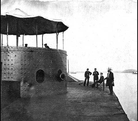 Sur le pont du Monitor en 1862 (cliquer sur l'image)