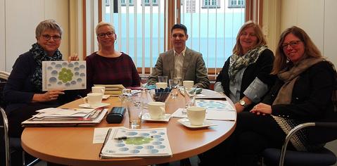 von links nach rechts: MdL Helga Lerch mit VSP-Vorstandsmitgliedern Nicole Morsblech, Manuel Lillig, Beatrix Spang u. Stefanie Maas
