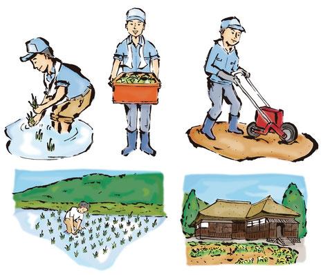 農業 筆イラスト