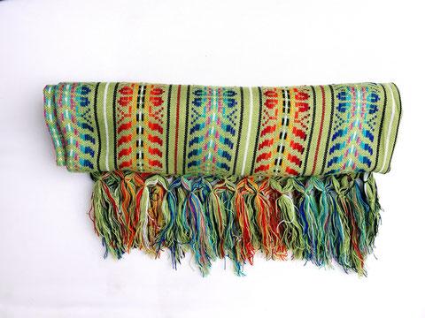 Decke, Tischdecke, Bettüberwurf, Sofaüberwurf, grüne Decke, Schal, Tuch, Poncho, Mexiko