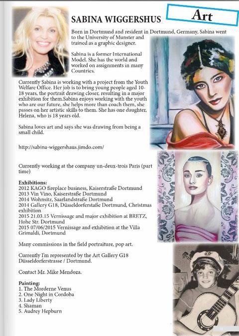 Oktober 2015 Artikel in www.cvh1class.com Englisches Magazin