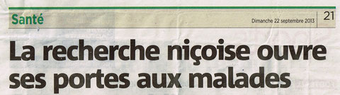 LMC FRANCE LABORATOIRE NICE MATIN AUBERGER C3M INSERM NANCY CATTAN CHERCHEURS RECHERCHE mina daban