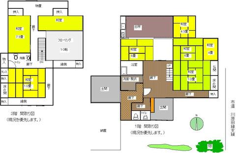 新潟県上越市大島区大平の売り物件間取り図