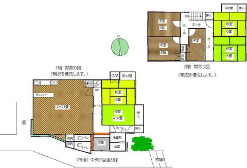 新潟県糸魚川市大字能生小泊にある中古住宅の間取り図