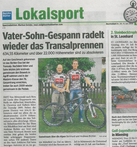 Bezirksblätter Imst 15.06.2009