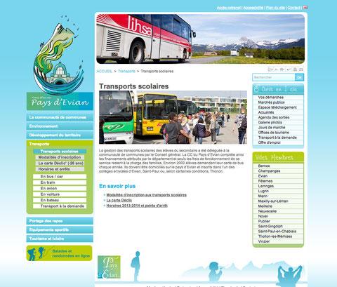 Transports scolaires Pays d'Evian