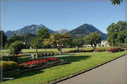 Nach einem Kaffeehalt in Interlaken...