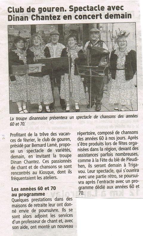 Le Télégramme - 11 février 2012