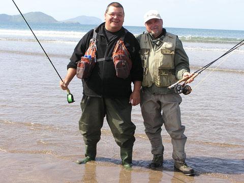 Waterville Beach und Inny Strand wurden auch befischt.