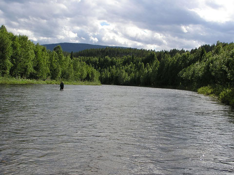"""The shining river"" am späten Nachmittag."