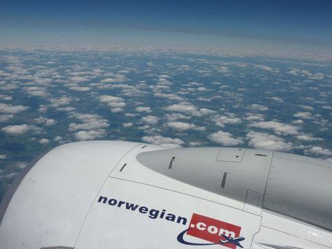 Im Anflug auf Oslo-Gardermoen.